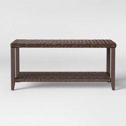 Halsted Wicker Rectangle Patio Coffee Table - Brown - Threshold™