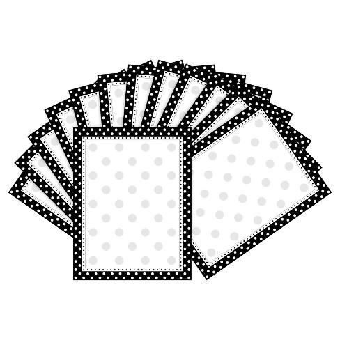 Barker Creek 2pk Printer Paper 100ct - Black & White Dot - image 1 of 2