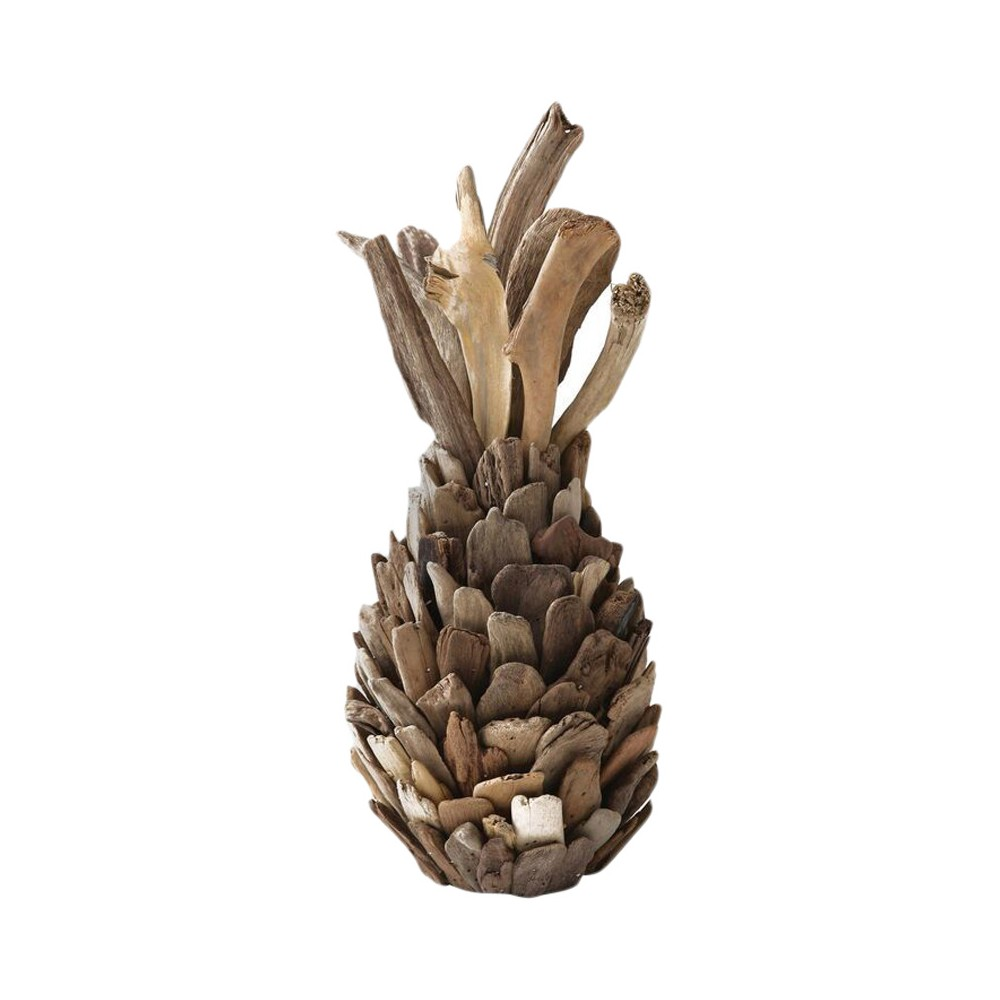 Driftwood Pineapple Decorative Sculpture (7.75x16.5) - 3R Studios, Bronze