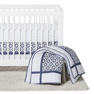 Trend Lab 3pc Crib Bedding Set - Blue Hexagon