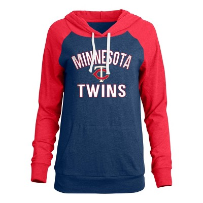 MLB Minnesota Twins Women's Bi-blend Lightweight Hoodie
