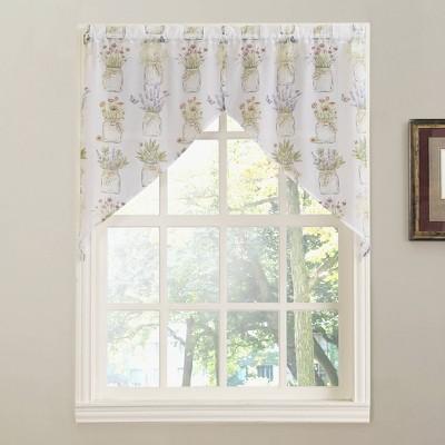 Eves Garden Kitchen Window Valance White - No. 918