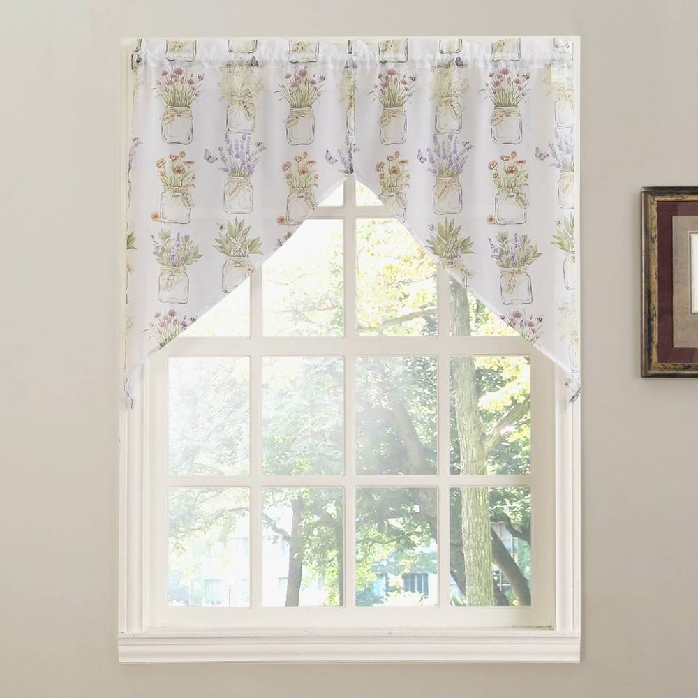 """Image of """"14""""""""x54"""""""" Eves Garden Kitchen Window Valance White - No. 918"""""""