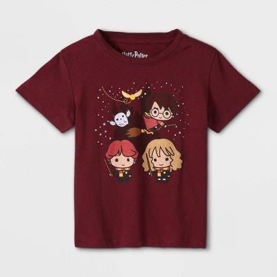Toddler Boys' Harry Potter Short Sleeve Graphic T-Shirt - Burgundy