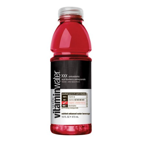 vitaminwater xxx açai blueberry br pomegranate 20 fl oz bottle
