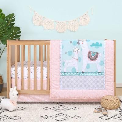 The Peanutshell Llama Love Crib Bedding Set - 3pc