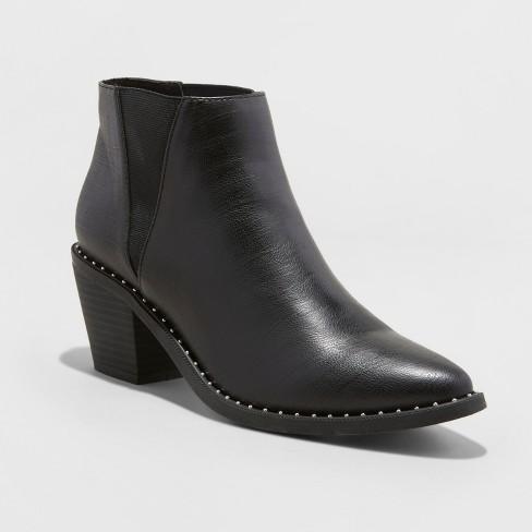 41dd22d1c313 Women s Luna Faux Leather Studded Welt Western Bootie - Universal Thread™