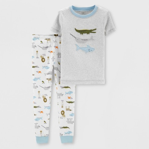 becff8f2e580 Little Planet Organic By Carter s Baby Boys  Pajama Set - Gray   Target