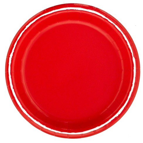 """8.5"""" 20ct Solid Disposable Dinner Plates Red - Spritz™ - image 1 of 1"""
