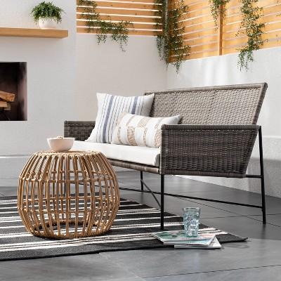5' x 7' Outdoor Rug Black Stripe - Threshold Designed with Studio McGee™