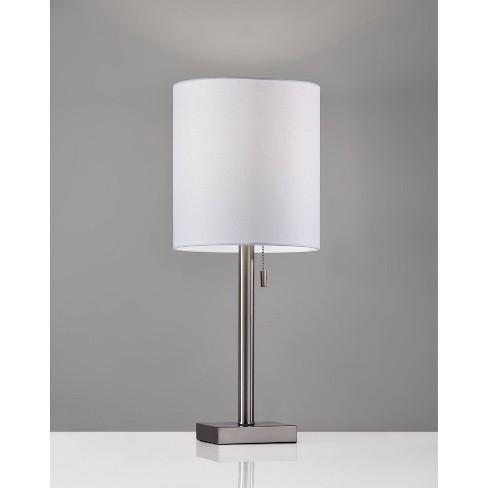 Liam Table Lamp Silver Adesso