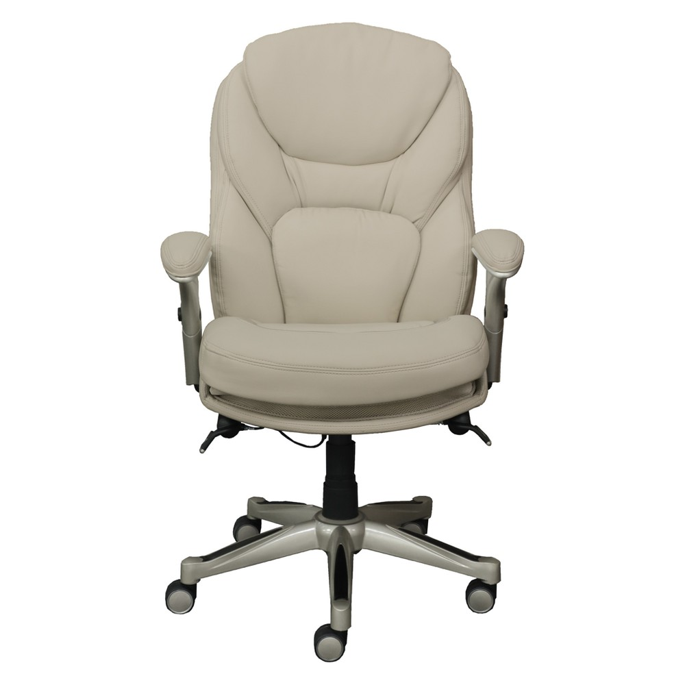 Office Chair with Back In Motion Technology Inspired Ivory - Serta