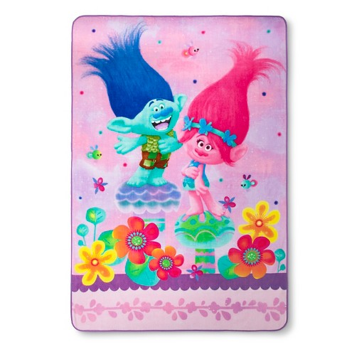 Trolls Bed Blanket (Twin) - Dreamworks® - image 1 of 1