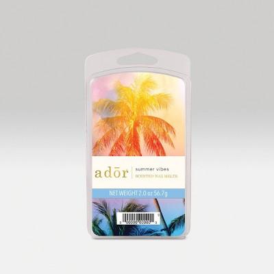 2oz 6pk Wax Melts Summer Vibes - ADOR