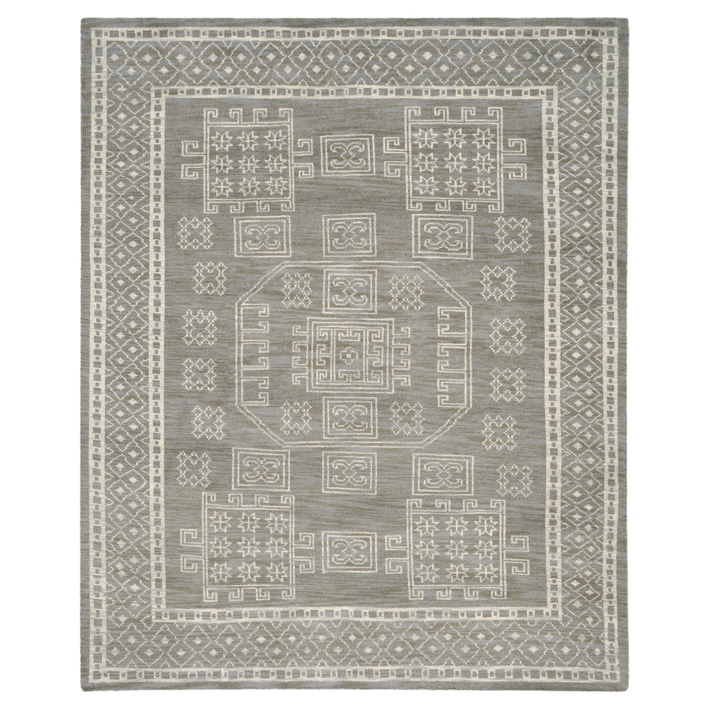 Gray Solid Knotted Area Rug - (9'X12') - Safavieh