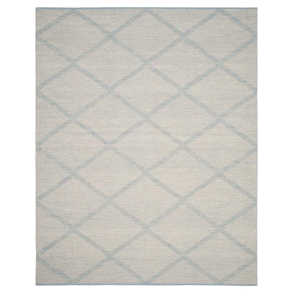 Light Blue Geometric Flatweave Woven Area Rug - (8'X10') - Safavieh