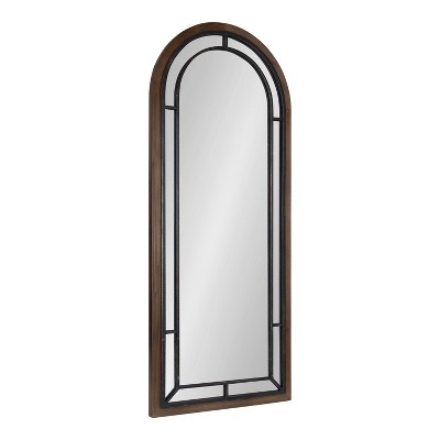 "20"" x 48"" Audubon Arch Wall Mirror Rustic Brown - Kate & Laurel All Things Decor"