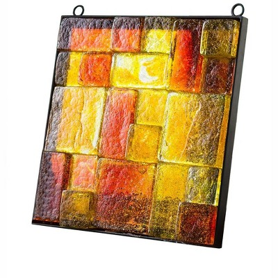VivaTerra Framed Recycled Glass Block Art
