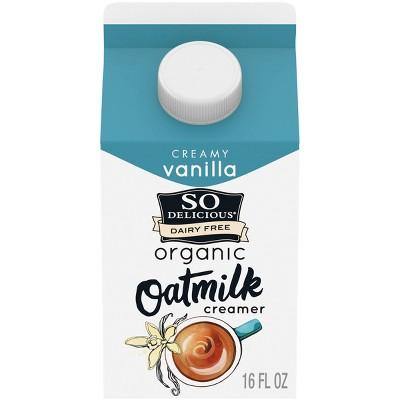 So Delicious Dairy-Free Organic Creamy Vanilla OatMilk Creamer - 16 fl oz