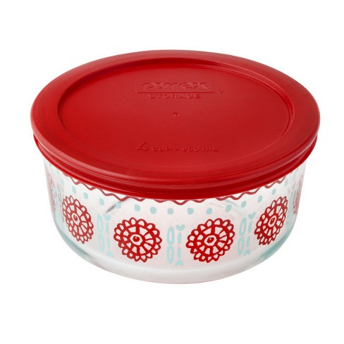 Pyrex Round Storage 4 Cup Blue - image 1 of 1