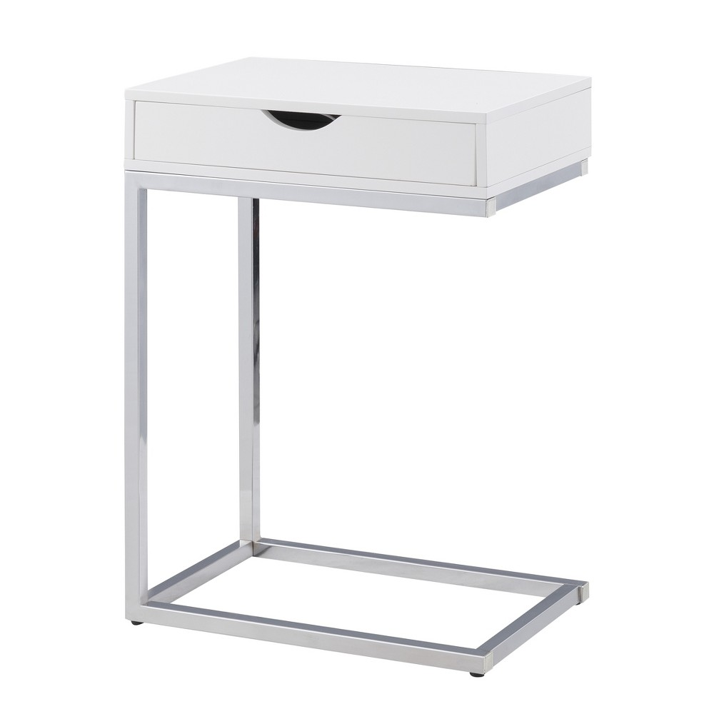 Zaha Storage Table White Chrome - Carolina Chair and Table