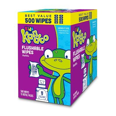 Kandoo Sensitive Flushable Wipes Value Pack - 500ct