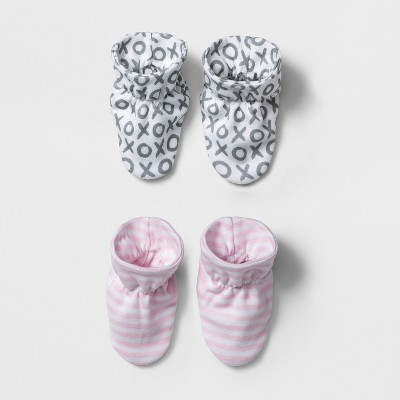Baby Girls' 2pk Bootie Set - Cloud Island™ Pink/Gray