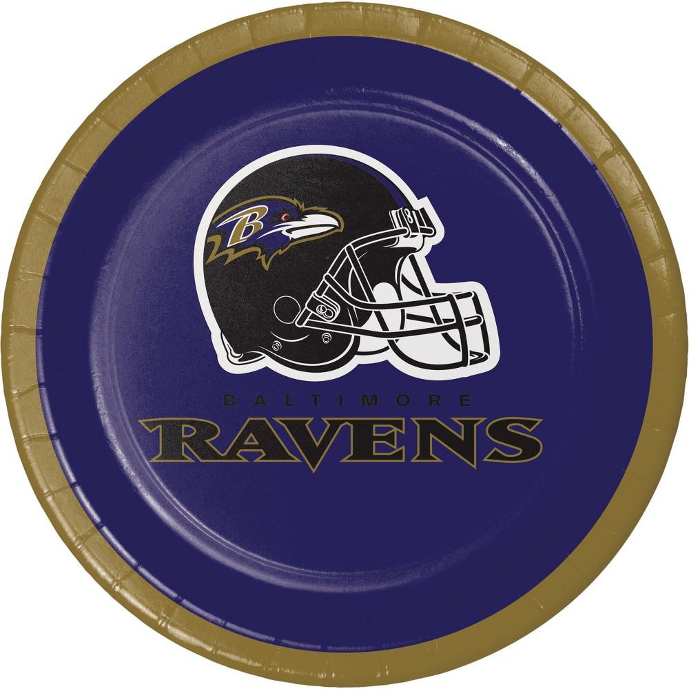 Image of 24ct Baltimore Ravens Dessert Plates Purple