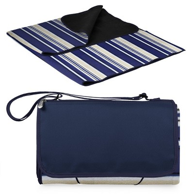 Picnic Time Extra Large Outdoor Blanket Tote - Navy