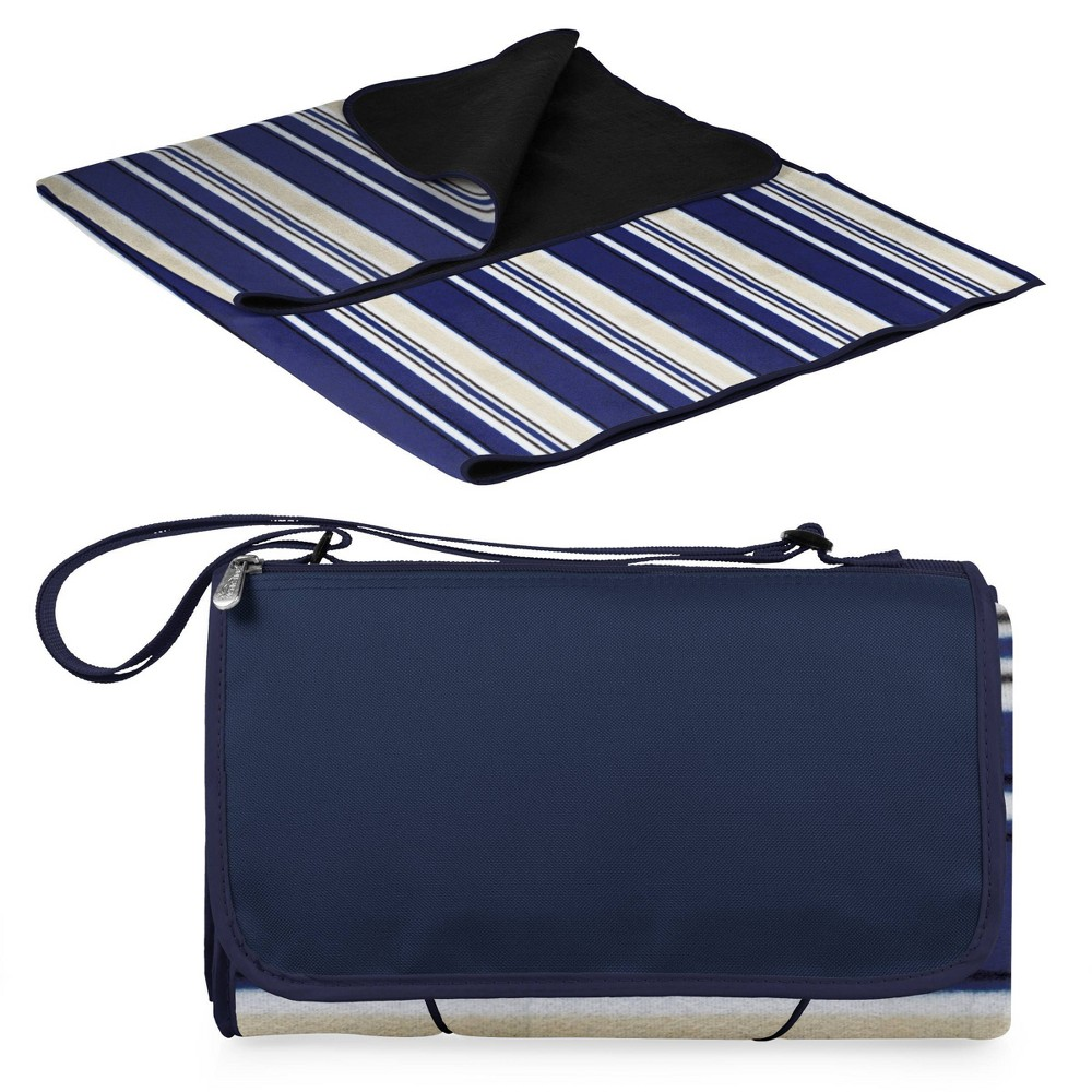 Image of Picnic Time Extra Large Outdoor Blanket Tote - Navy