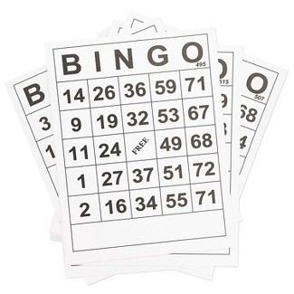 60-Pack Juvale Jumbo Size Bingo Game Cards, Quality Large Paper Cards For Kids, Adults & Seniors, 8 X 11 Inches : Target