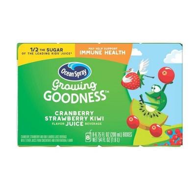 Ocean Spray Growing Goodness Cranberry Strawberry Kiwi Juice Drink - 8pk/6.75 fl oz Boxes