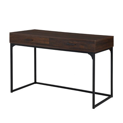 Horatio Computer Desk with Drawers Elm/Black - Carolina Chair & Table