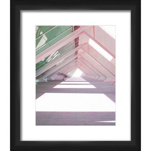 "13"" x 15"" Matted to 2"" Triangles Shadow Framed Black - PTM Images - image 1 of 4"