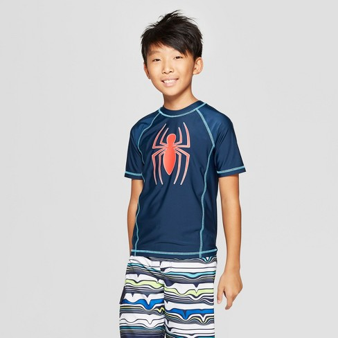 Boys' Spider-Man Rash Guard - Navy - image 1 of 3
