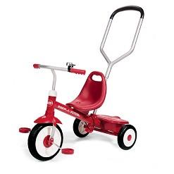 Radio Flyer Steer & Stroll Trike - Red, Kids Unisex