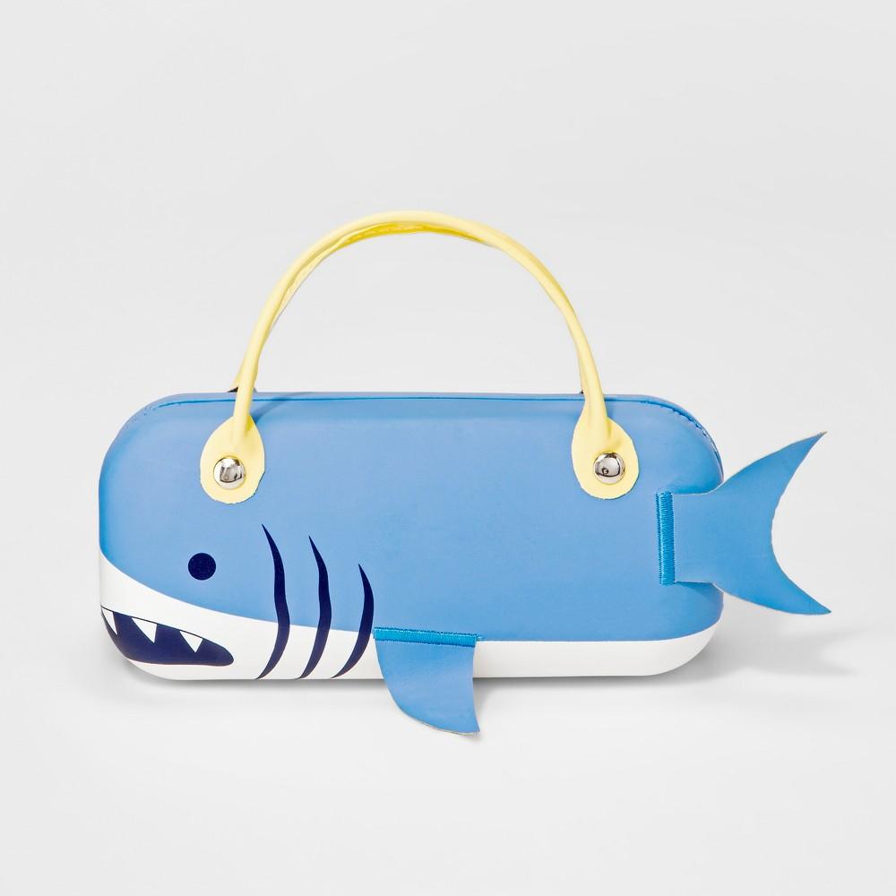 Image of Girls' Shark Sunglass Case - Cat & Jack Blue