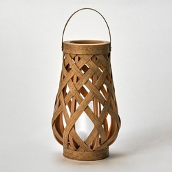 Rattan Outdoor Lantern LED Candle Natural - Opalhouse™