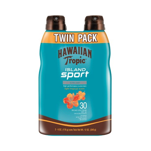 Hawaiian Tropic Island Sport Sunscreen Spray Twinpack - SPF 30 - 12oz - image 1 of 6