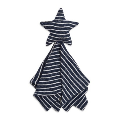 Aden + Anais Snuggle Knit Security Blanket Navy Stripe