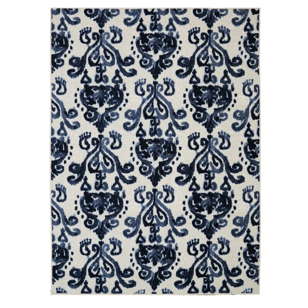 Image of 5'X8' Geometric Area Rug Blue - Mohawk