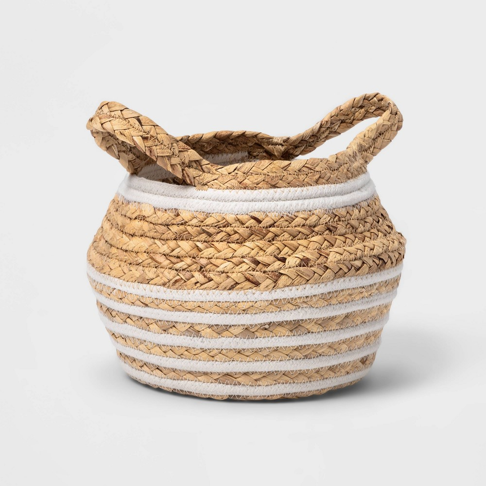 Small Water Hyacinth And Coiled Rope Storage Bin Pillowfort 8482