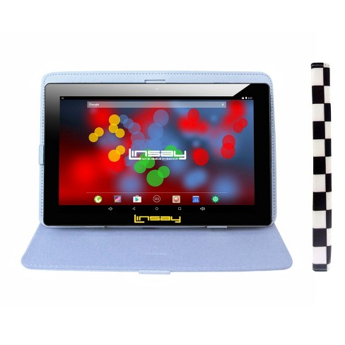 "Linsay 10.1"" Quad Core 1280x800 IPS Screen Tablet with Square Case - White/Black - image 1 of 3"