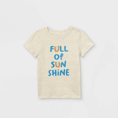 Toddler Boys' 'Full of Sunshine' Graphic Short Sleeve T-Shirt - Cat & Jack™ Cream