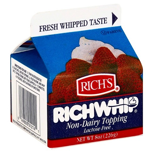 Rich's Rich Whip Non Dairy Frozen Topping - 8oz - image 1 of 1