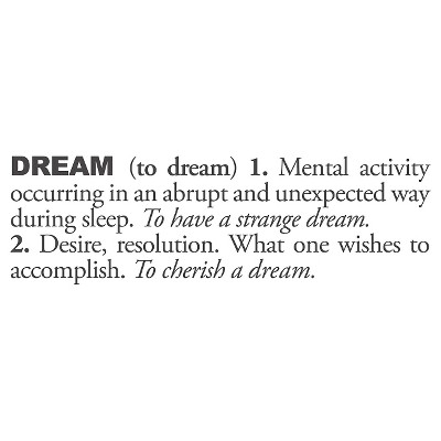 Dream Definition Wall Decal - Almost Black