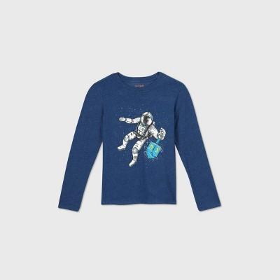 Boys' Long Sleeve Hanukkah Dreidel Graphic T-Shirt - Cat & Jack™ Blue S