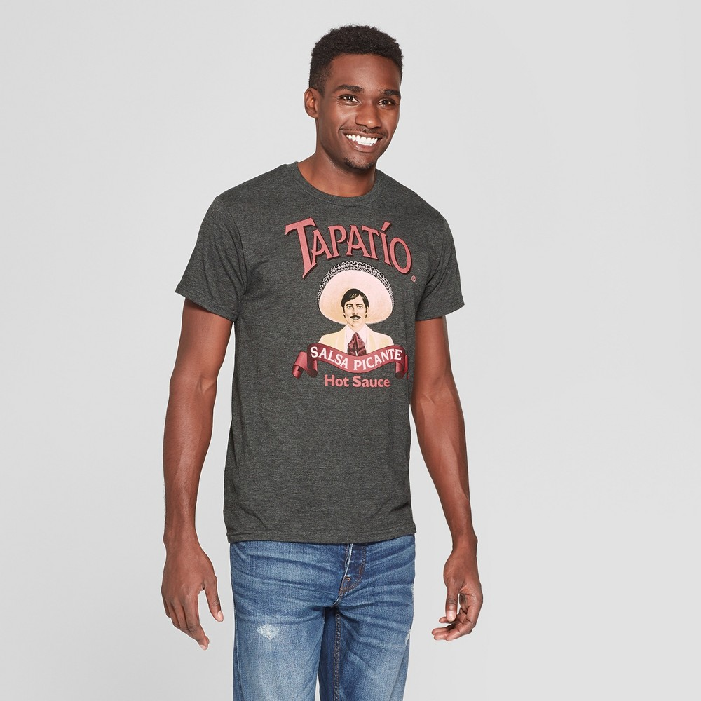 Men's Short Sleeve Tapatio Crew T-Shirt - Charcoal Heather L, Gray