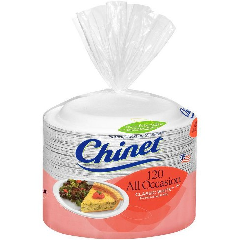 Chinet Lunch Plates Classic White - 120ct - image 1 of 4