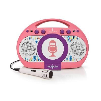 Singing Machine iSM398PP Tabeoke Portable Bluetooth Karaoke System, Purple Pink